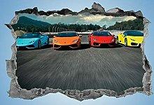 ioljk Adesivi murali 3D Adesivo per Auto Sportive