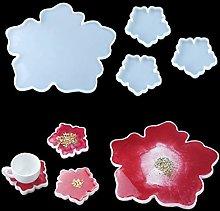 iSuperb 4 Pack Epossidica Stampi Resina Coaster