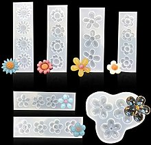iSuperb 7pcs Stampo in Silicone Resina Fiore