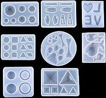 iSuperb 8 Pezzi Stampo in Silicone Resina, Stampi