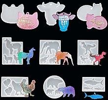 iSuperb 9 pz Stampi per Resina Stampo Portachiavi