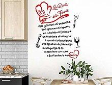 Italia Adesivo Murale Frase Citazione Wall