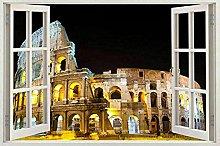 Italia Roma Window Wall Sticker Decal Vinyl Decor