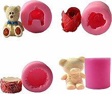 Itlovely - Stampo in silicone 3D a forma di orso
