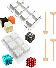Itlovely - Stampo in silicone per 8 cubi quadrati