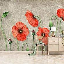 IWJAI Fotomurali Adesivo Rosso piante fiori