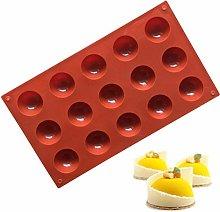 Jackallo Stampo in Silicone a semicerchio per 15