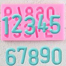 JACKWS Numeri Stampi in Silicone Cioccolato Festa
