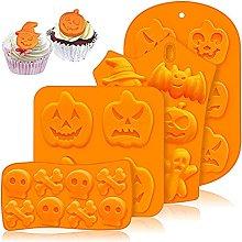 JasCherry 4 Pezzi Stampi in Silicone di Halloween,
