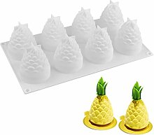 JasCherry Stampo in Silicone Forma di Ananas con