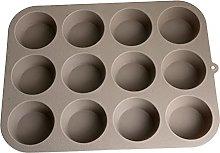 jeerbly Teglia per Muffin In Silicone,Teglia da