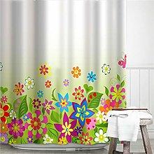 JEIBGW Tenda della docciaArte Astratta Stampata