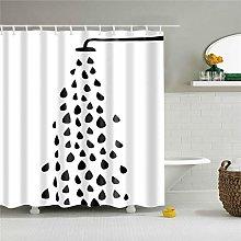 JEIBGW Tenda della docciaMotivo a Piastrelle