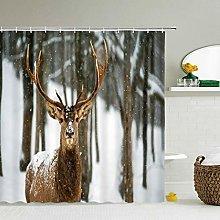 JEIBGW Tenda della docciaTende da Doccia con Cervo