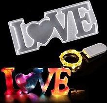 JEMESI - Stampo in Silicone a Forma di Love 3D, in
