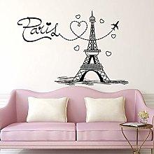 JHGJHGF Adesivo murale Parigi Aeroplano Adesivo da