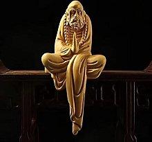 JIAChaoYi Meditazione in Legno Piccola Statua