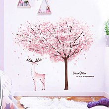 JIAPAI Adesivi murali Albero di Fiori di ciliegio