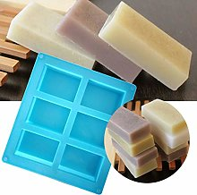 JIJK - Stampo rettangolare in silicone, 6 stampi