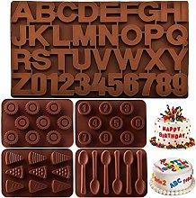 JINGYOU Stampi in Silicone Lettere Numeri,Lettere