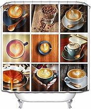 Jiugongge tazza chicchi di caffè tenda doccia