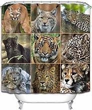 Jiugongge Tiger Leopard tenda da doccia tenda da