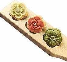 Jiuyecao Stampo in legno per torta di luna e