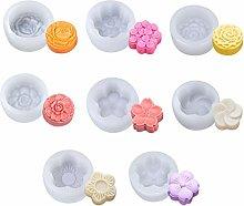 Jiuyecao - Stampo in silicone a forma di fiore, 8
