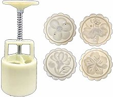 JIUYECAO Stampo per torta di luna 50 g con 3D