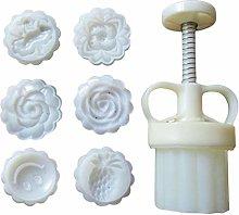 Jiuyecao stampo regolabile Mooncake 50 g fiore