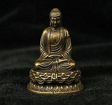 JJPRFO Scultura Statua in Ottone Amitabha