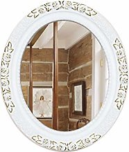 JJZI-L Specchio A Muro, retrò Ovale Bagno Trucco