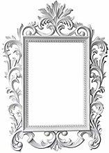 JJZI-L Specchio da Trucco Rettangolare, retrò
