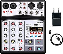 JKDZYD Mini Mixer Bluetooth a 4 Scheda Audio Audio