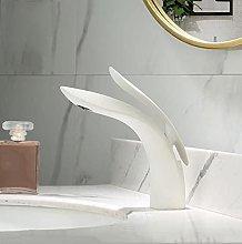 JMYXZHT Rubinetto per lavabo Nero/Oro Ottone Gru