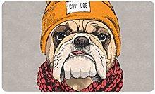 JOCHUAN Bulldog Ritratto 30x18 Pollici Tappeti per
