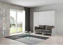 Joyshop - Letto verticale a scomparsa con divano e