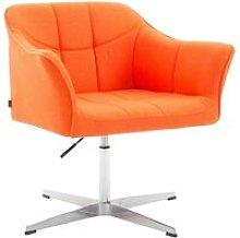 Joyshop - Poltrona Lounge in tessuto arancio