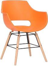 Joyshop - Sedia in plastica arancio faggio