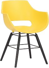 Joyshop - Sedia in plastica giallo Nero