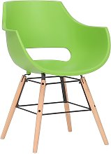 Joyshop - Sedia in plastica verde faggio