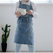 JSJJARD Grembiule di Cucina Bambini Nera Blu Denim