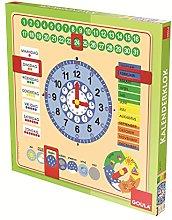 Jumbo Spiele Orologio Calendario in Legno a Forma