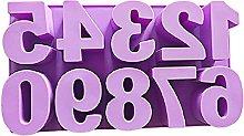 JumpXL Stampo in silicone, numeri arabi in resina