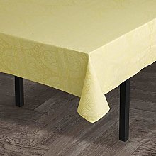 Juna, Easter Damask Tablecloth Yellow 150X270 Cm ,