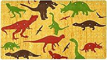 Jurassic - Tappeto da bagno antiscivolo con motivo