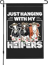 Just Hanging with My Heifer Garden Flags,