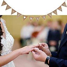 Jute Just Marry, ghirlanda vintage in lino con