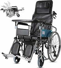 JYHQ - Sedia a rotelle pieghevole, resistente,