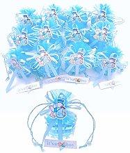 JZK 12 x It's a Boy Azzurro Blu Mini Cestino